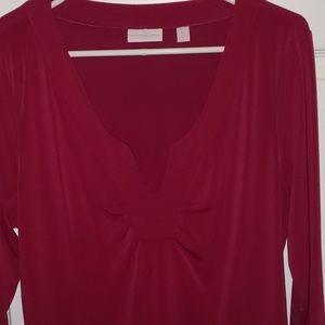 New York & Company Tops - Side ruched 3/4 sleeve top